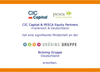Kloepfel Corporate Finance berät exklusiv den Gründer der Brüning Gruppe