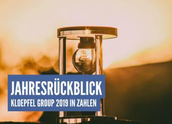 Jahresrückblick: Kloepfel Group 2019 in Zahlen