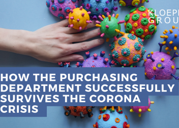 How the purchasing department successfully survives the corona crisis