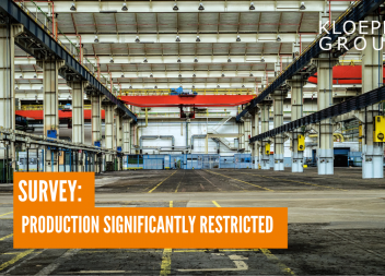 Survey: Production significantly restricted