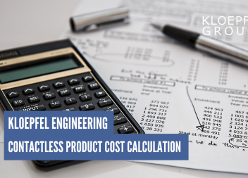 Contactless product cost calculation