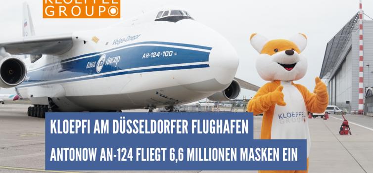 Kloepfi empfängt 6,6 Millionen Mundschutzmasken