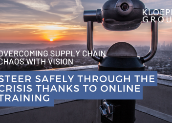 Overcoming supply chain chaos with vision: Steer safely through the crisis thanks to online training