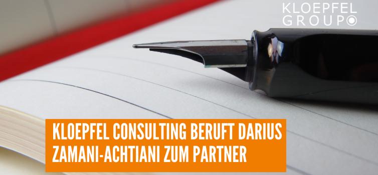 Kloepfel Consulting beruft Darius Zamani-Achtiani zum Partner