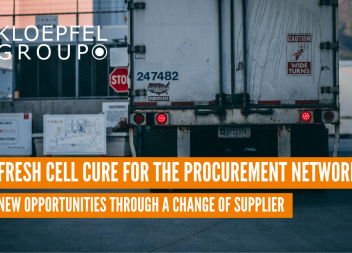 Fresh cell cure for the procurement network