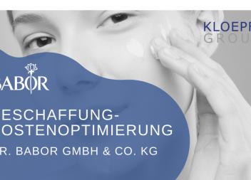 Beschaffungskostenoptimierung bei der Dr. BABOR GmbH & Co. KG