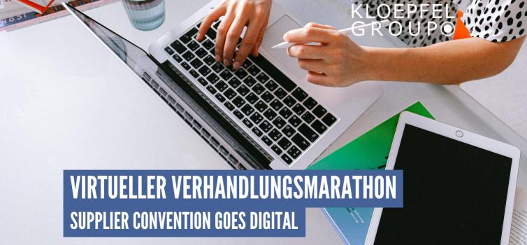 Virtueller Verhandlungsmarathon: Supplier Convention goes digital