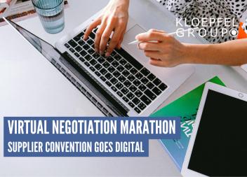 Virtual negotiation marathon: Supplier Convention goes digital