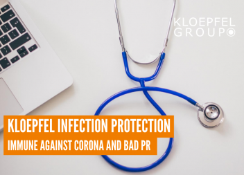 Kloepfel infection protection: Immune against corona and bad PR