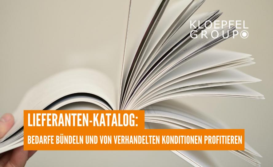 Lieferanten-Katalog: Bedarfe bündeln und von verhandelten Konditionen profitieren