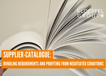 Supplier-Catalogue: Bundling requirements and profiting from negotiated conditions