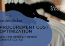 Procurement cost optimization at Textilkontor Walter Seidensticker GmbH & Co. KG