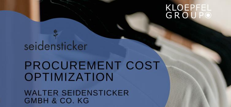 Procurement cost optimization at Textilkontor Walter Seidensticker GmbH & Co. KG