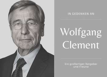 Trauer um Wolfgang Clement