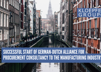 Successful start of German-Dutch alliance for procurement consultancy to the manufacturing industry