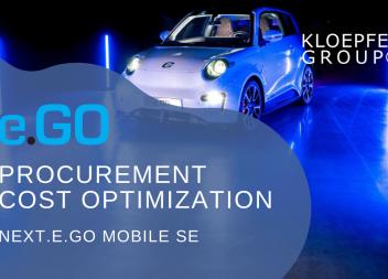 Procurement cost optimization at e.GO Mobile AG