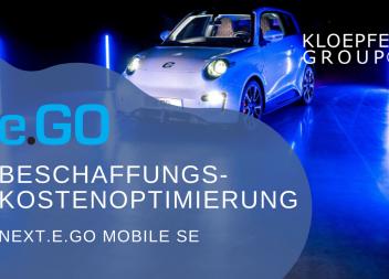 Beschaffungskostenoptimierung bei der e.GO Mobile AG