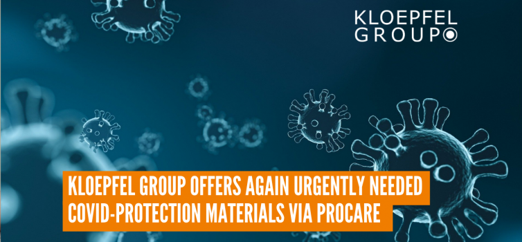 Kloepfel Group offers again urgently needed COVID-protection materials via ProCare