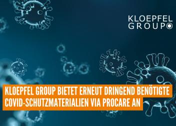 Kloepfel Group bietet erneut dringend benötigte COVID-Schutzmaterialien via ProCare an