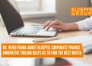 Dr. Heiko Frank about Kloepfel Corporate Finance