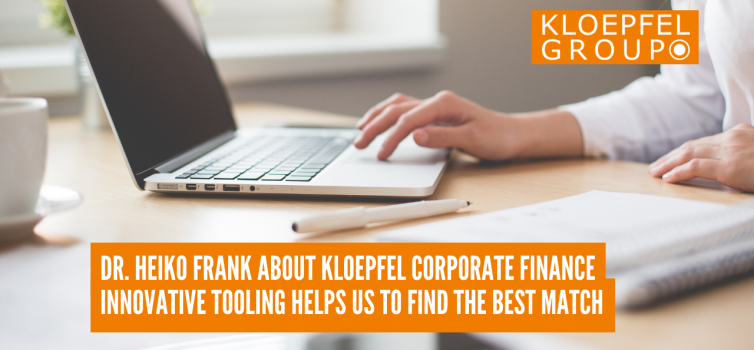 Dr. Heiko Frank about Kloepfel Corporate Finance