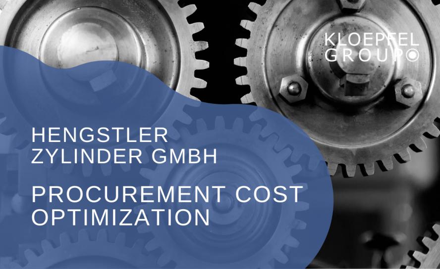 Procurement cost optimization at Hengstler Zylinder GmbH