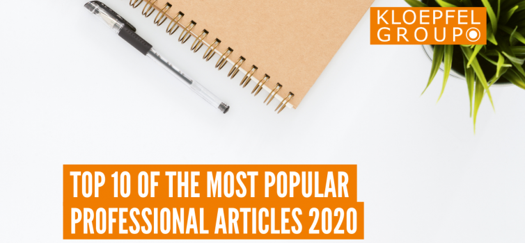 Top 10 of the most popular professional articles 2020