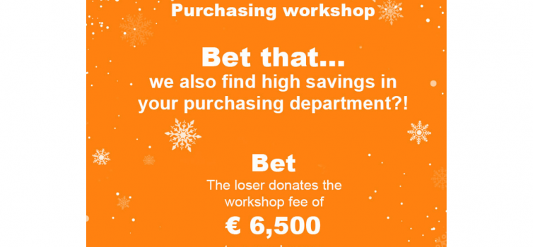 The incredible purchaser bet for a good cause: Bet € 6,500