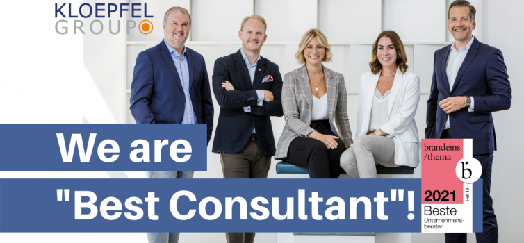 """Kloepfel Consulting awarded """"Best Consultants"""" for the sixth year in a row"""