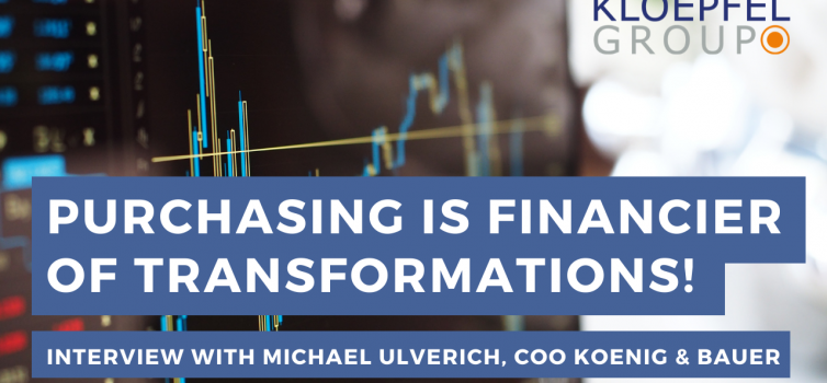 Purchasing is the financier of transformations!