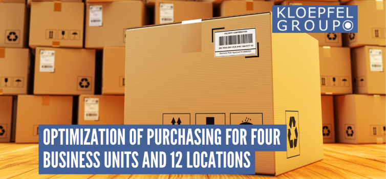 Optimization of purchasing for four business units and 12 locations