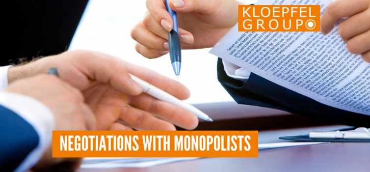 Negotiations with monopolists