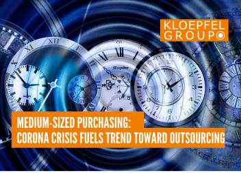 Medium-sized purchasing: Corona crisis fuels trend toward outsourcing