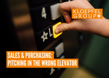 Sales & Purchasing: Pitching in the wrong elevator