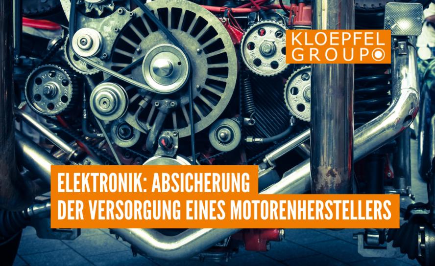 Elektronik: Absicherung der Versorgung eines Motorenherstellers